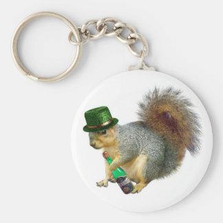 Drinking Irish Squirrel Keychain