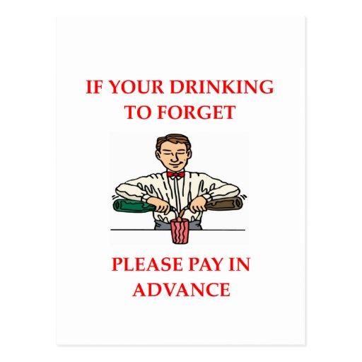 drinking joke postcards