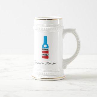 Drinking Liberally, Brandon, Florida Stein Mugs