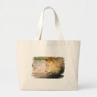 Drinking Lion Canvas Bag