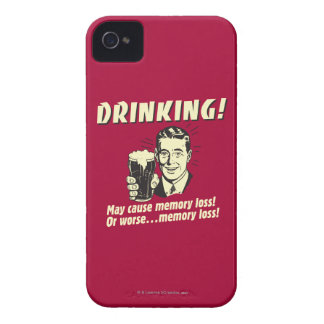 Drinking: May Cause Memory Loss Worse iPhone 4 Case-Mate Case