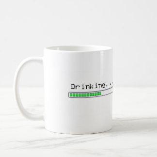 drinking progress bar basic white mug