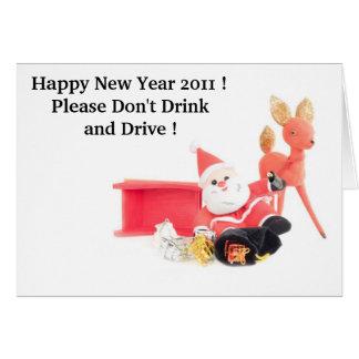 Drinking Santa Greeting Card