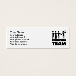 Drinking team mini business card
