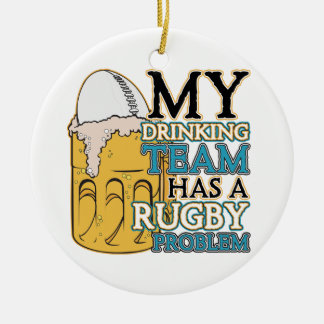 Drinking Team Rugby Christmas Ornament