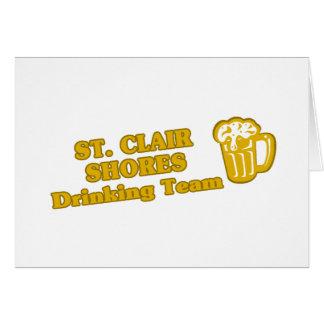 Drinking Team tee shirts Greeting Card