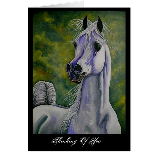 """Drinking the Wind"" Arabian horse card"