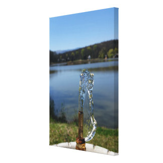 drinking water fountain canvas print