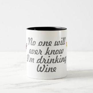 Drinking Wine Two-Tone Mug