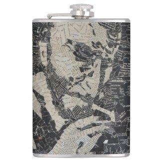 Drinking With Bukowski Hip Flask