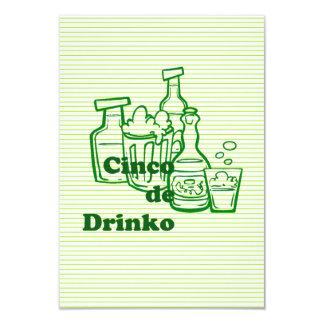 Drinko Cinco Cinco de Mayo Party Invitations