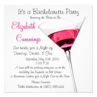 drinks bachelorette party invite fun simple classy