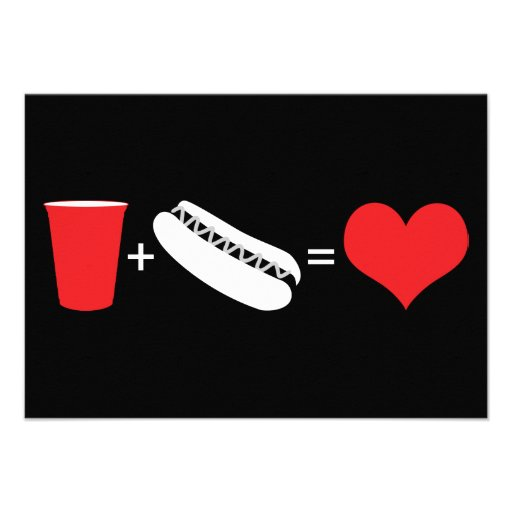 drinks + hot dogs = love announcement