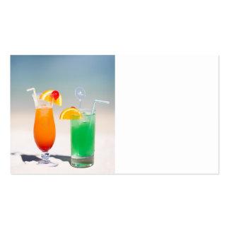Drinks on the beach business card templates