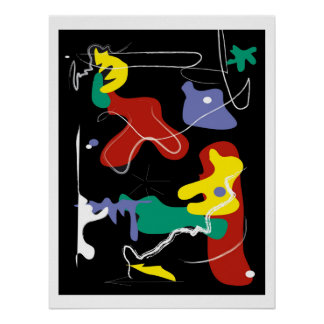 Drip Painting Poster with a Modern Art Flair