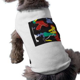 Drip Painting Sleeveless Dog Shirt