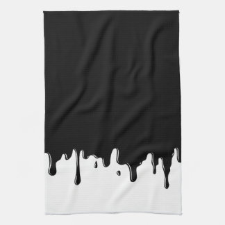 Dripping Black Slime Fun Kitchen Towel