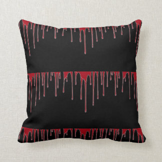 Dripping Blood Throw Pillow