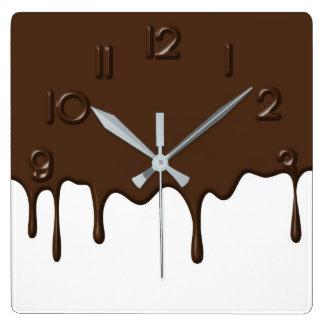 Dripping Chocolate - Wall Clock