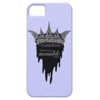 Dripping Crown with Text - v2 iPhone 5 Case