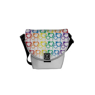 Dripping Heartfelt Rainbow Mini Messenger Bag