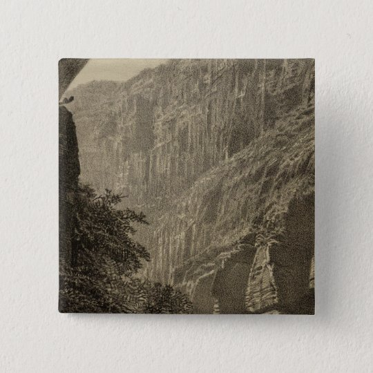Dripping Pool, Kanab Canyon 15 Cm Square Badge