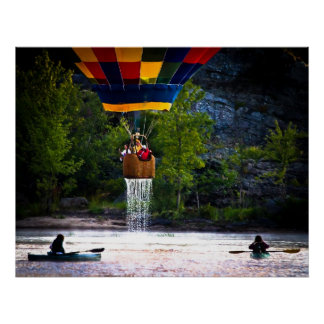 Dripping Wet  Hot Air Balloons Poster