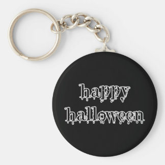 Drippy Blood Happy Halloween Basic Round Button Key Ring