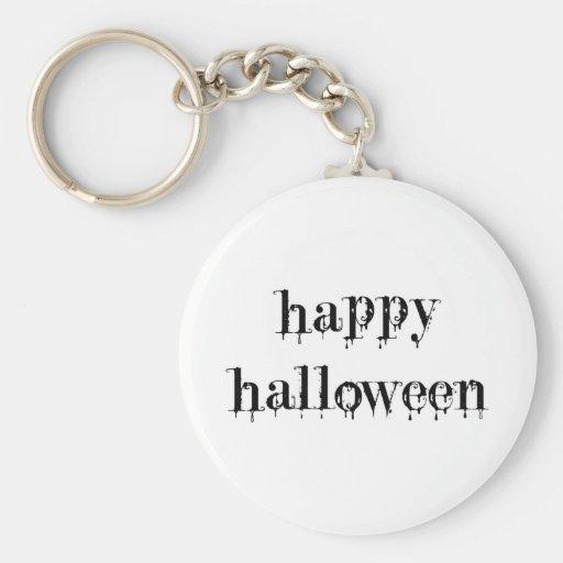 Drippy Blood Happy Halloween Key Chains
