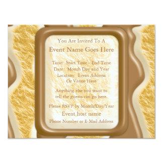 Drips - Chocolate Marshmallow 11 Cm X 14 Cm Invitation Card
