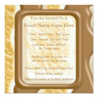 Drips - Chocolate Marshmallow 13 Cm X 13 Cm Square Invitation Card