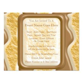 Drips - Chocolate Marshmallow Custom Invitations