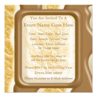 Drips - Chocolate Marshmallow Invitation