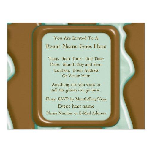 Drips - Chocolate Mint Custom Invitation