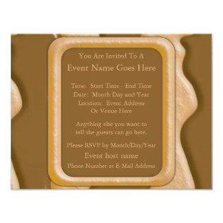 Drips - Chocolate Peanut Butter 11 Cm X 14 Cm Invitation Card