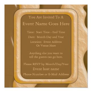Drips - Chocolate Peanut Butter 13 Cm X 13 Cm Square Invitation Card