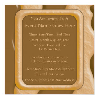 Drips - Chocolate Peanut Butter Custom Invitations