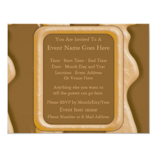 "Drips - Chocolate Peanut Butter 4.25"" X 5.5"" Invitation Card"