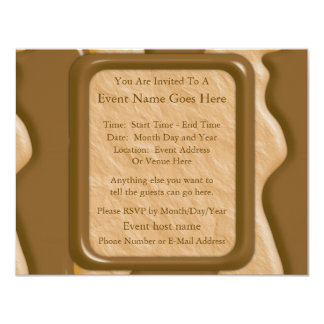 Drips - Chocolate Peanut Butter 4.25x5.5 Paper Invitation Card