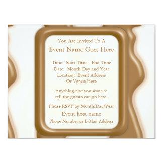 Drips - Milk Chocolate and White Chocolate 4.25x5.5 Paper Invitation Card