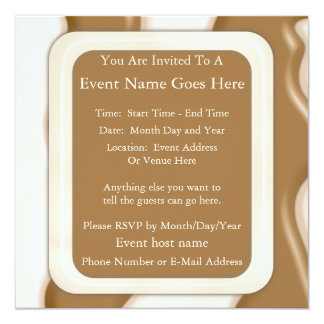 "Drips - Milk Chocolate and White Chocolate 5.25"" Square Invitation Card"