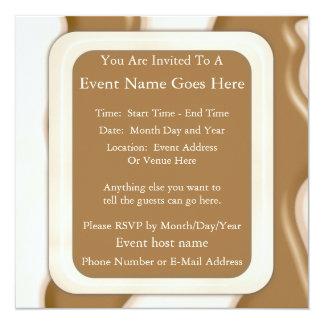 Drips - Milk Chocolate and White Chocolate 5.25x5.25 Square Paper Invitation Card