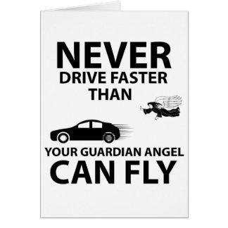Drive carefully card