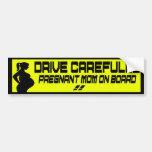 drive carefully pregnant mum on board