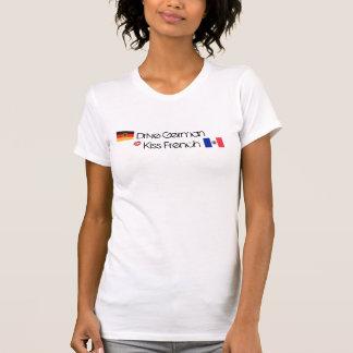 Drive German, Kiss French (Lips) T-Shirt