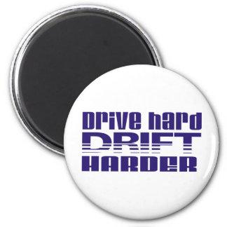 drive hard drift harder fridge magnet