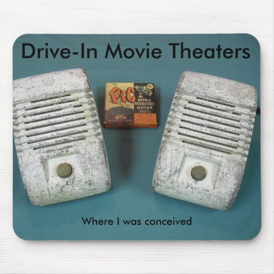 Drive-In Movie Theatres Mouse Pad