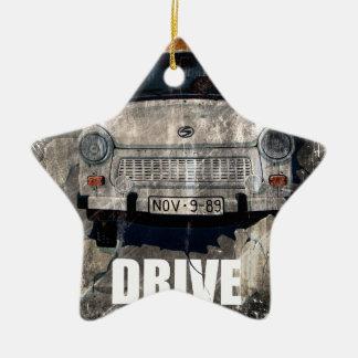 Drive Safe Retro Car Christmas Ornament