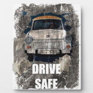 Drive Safe Retro Car Plaque