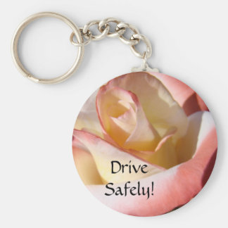 Drive Safely Keychains Mom Said Pink White Rose